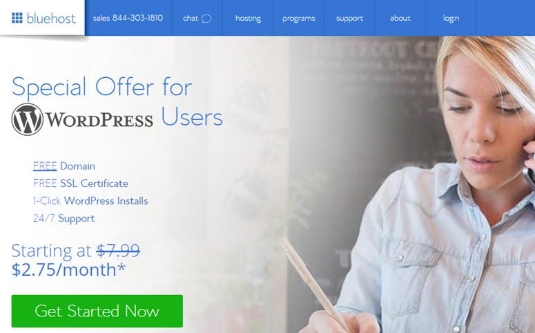 create a blog on bluehost
