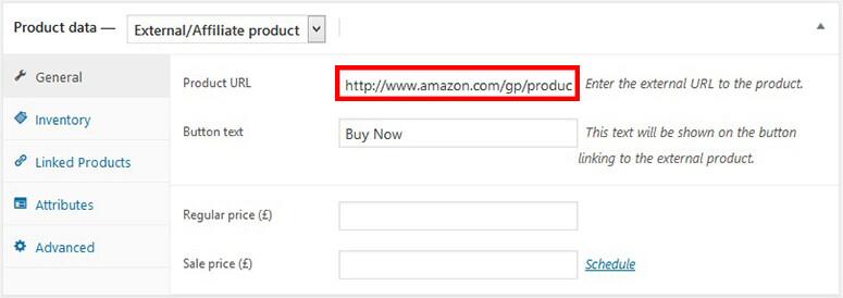 Add Amazon product link