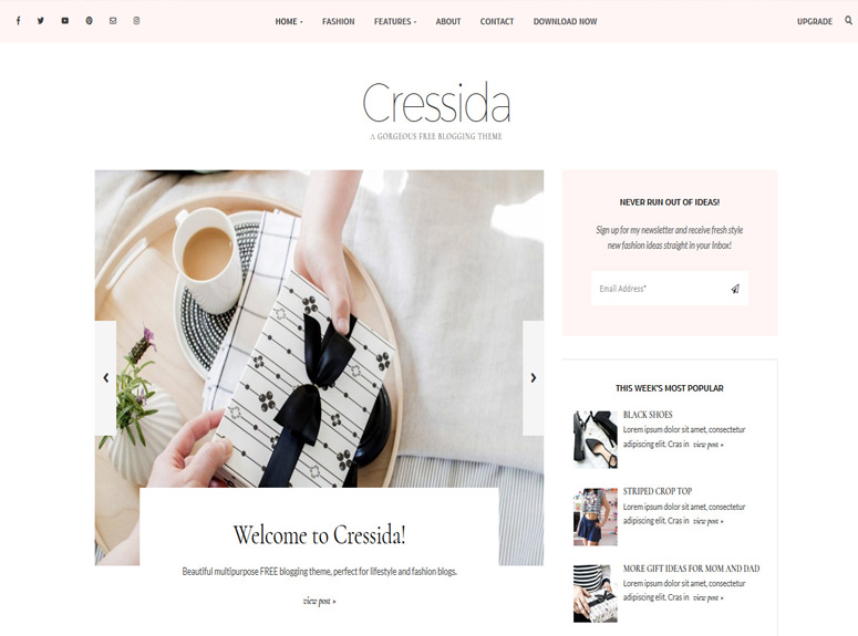 Cressida-wordpress-tema