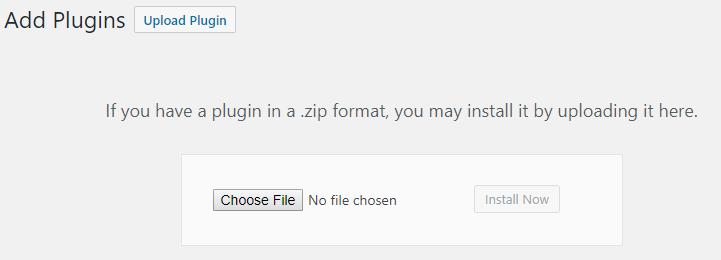 scegli il file per il caricamento
