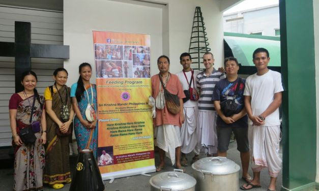Krsna Prasadam Distribution on the Streets of Manila