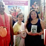 Book Distribution & Kirtana Workshop at a New Age Festival