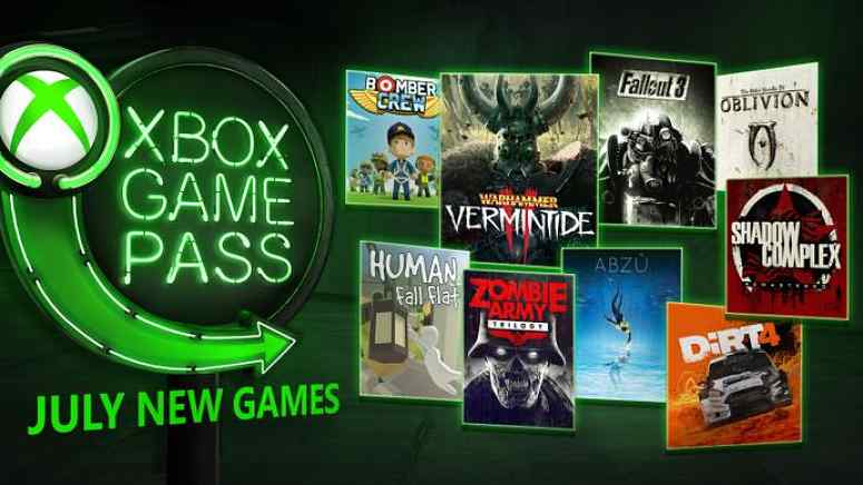 Xbox Game Pass July 2018
