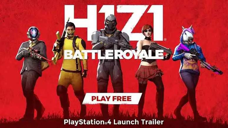 H1Z1 Battle Royale PS4 Launch