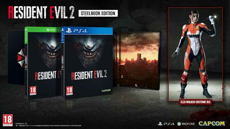 Resident Evil 2 Steel Book Edition