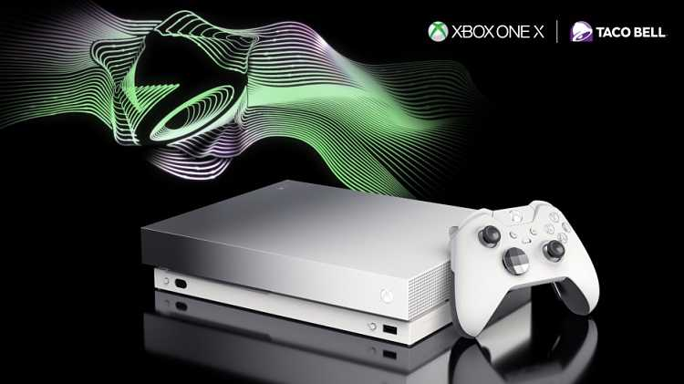 Win a Platinum-Colored Xbox One X at Taco Bell