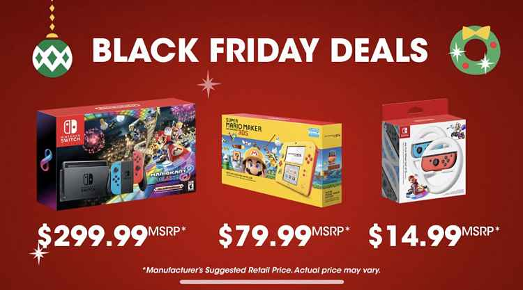 Nintendo Black Friday Deals 2018