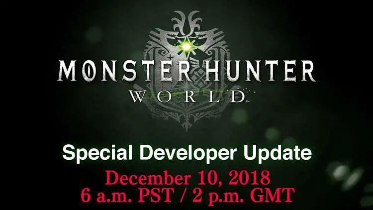 Monster Hunter World Developer Update