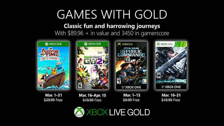 Xbox Live Gold free games for March 2019 announced