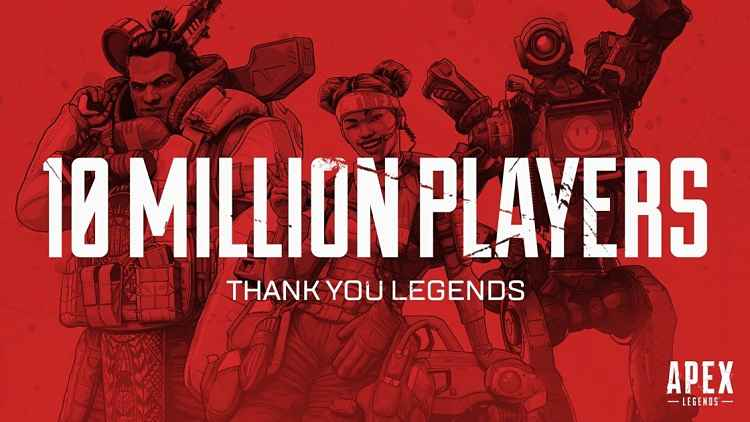 Apex Legends breaks 10M players, and 1M concurrents, in just 72 hours