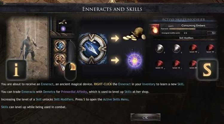 Enneracts inWolcen: Lords of Mayhem