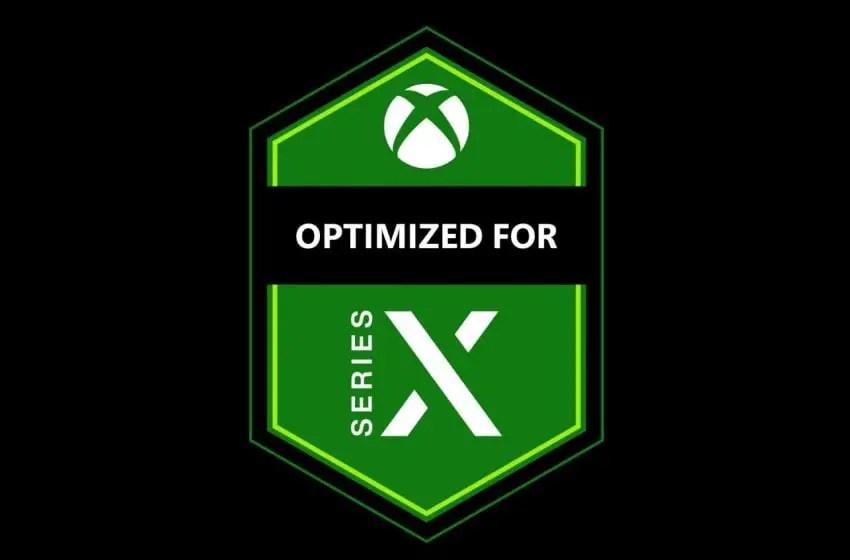"""Optimized for Series X"" logo"