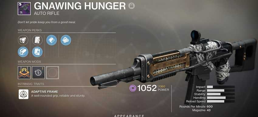 Destiny 2 Gnawing Hunger Guide