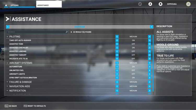 The best Assistance settings for new players in Microsoft Flight Simulator