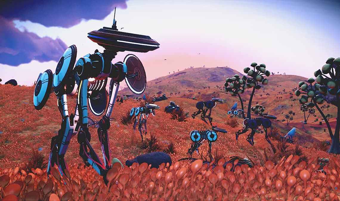How to find synthetic creatures and robots in No Man's Sky