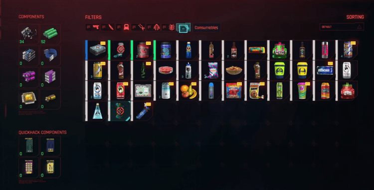 Cyberpunk 2077 - How To Eat And Drink Items