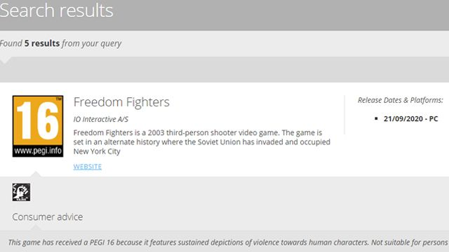 Freedom Fighters remaster rumours