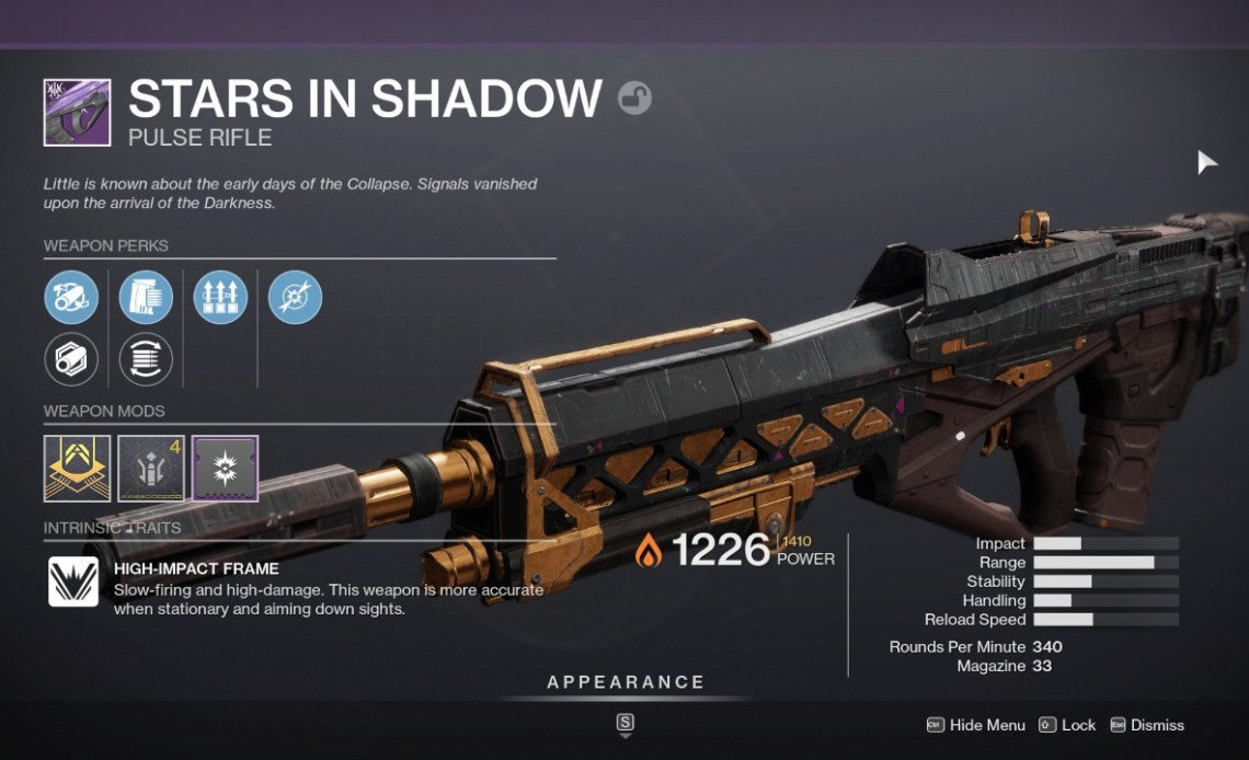 Stars in Shadows Destiny 2 Guide