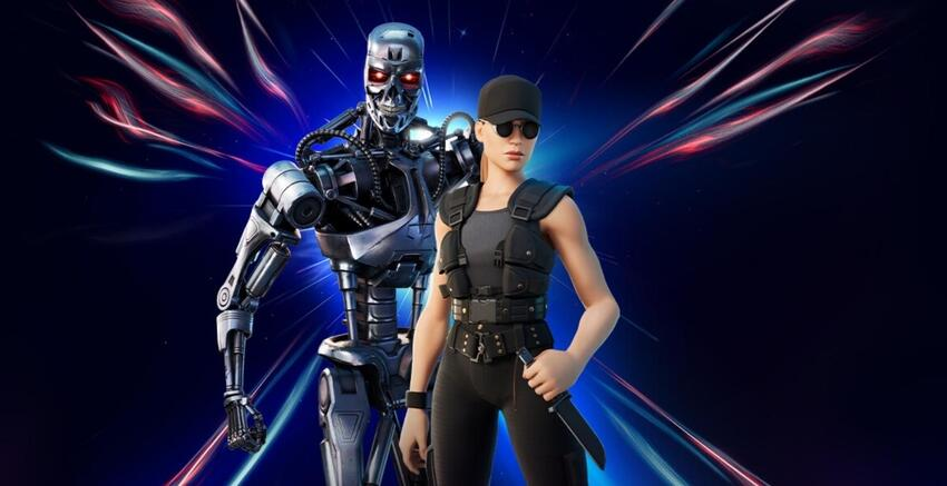 Terminator T-800 and Sarah Connor Skins Live