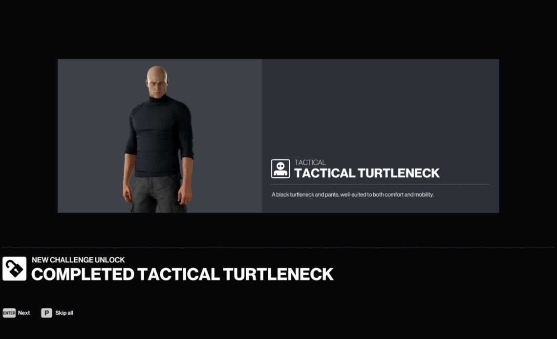 How to get the Tactical Turtleneck in Hitman 3