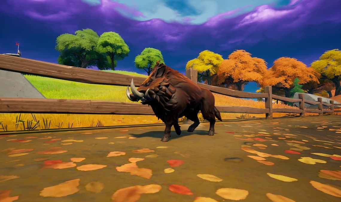 How to harvest a Wolf Fang, Boar Tusk, and three Chicken Feathers in Fortnite