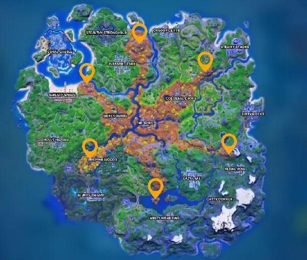 Guardian Locations in Fortnite Chapter 2 Season 6