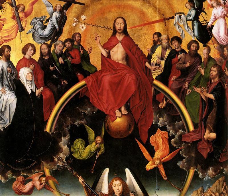 1467 1471 Triptyque du Jugement Dernier, détail central, panneau de chêne, Triptych of the Last Judgment, central detail, panel of oak,