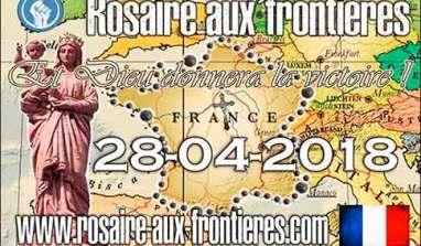 A retenir : Rosaire aux frontières, en France, le 28 avril 2018