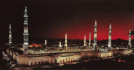 La mosquée du prophète Mohammed à Médine