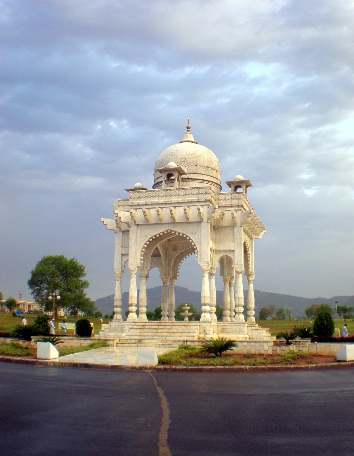 Monument at Fatima Jinnah Park in Islamabad