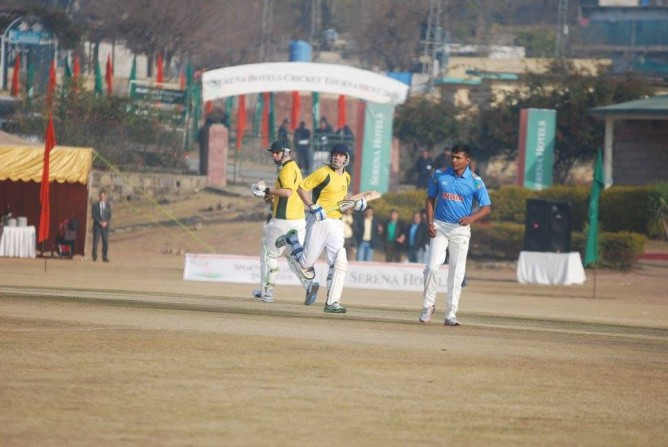 A match during the two-day sporting event, organized by Serena Hotel in collaboration with the Australian High Commission, in Islamabad.