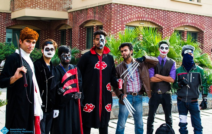 Students dressed up as their favourite comics and movie characters in Comic-Con 2015 held at COMSATS Islamabad