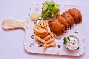 Fish and chips at Social Cafe Islamabad