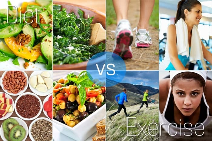 Exercise or Diet - What is more important for Healthy Life?