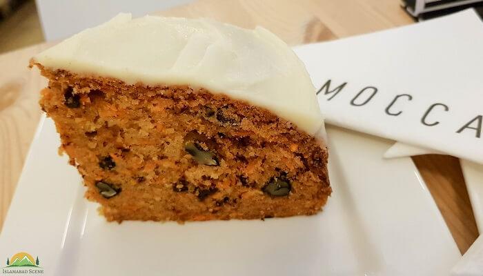 Carrot Cake at Mocca Islamabad