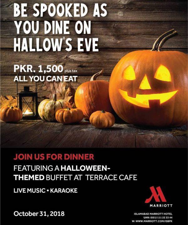 Halloween themed dinner buffet at Terrace Cafe