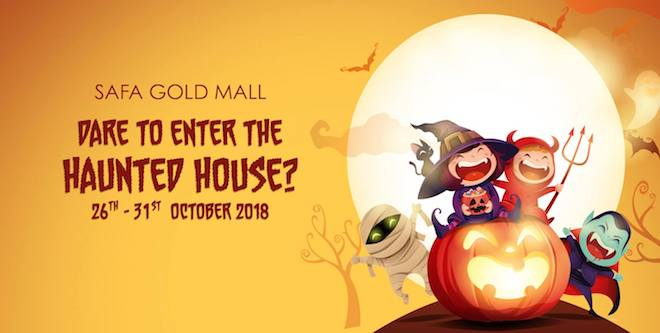 haunted house safa mall on halloween