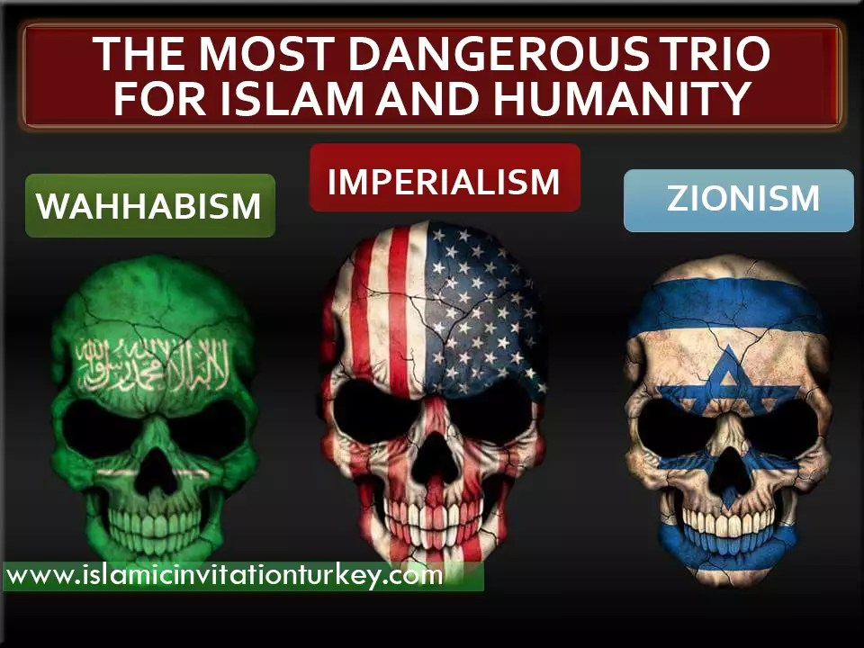 Image result for most dangerous trio zionist wahhabist imperialist