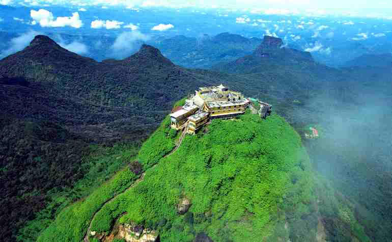 Adam's Peak - mountain top view