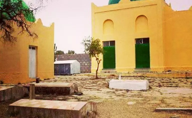 The graveyard in the Negashi mosque compound