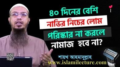৪০ দিনের বেশি নাভির নিচের লোম পরিস্কার না করলে - Islami Lecture