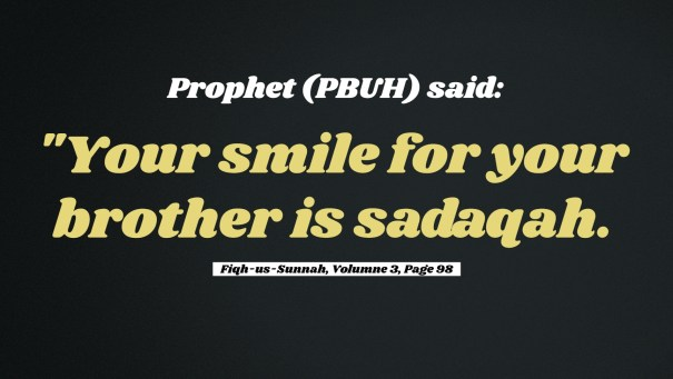 Smile is Sadaqah