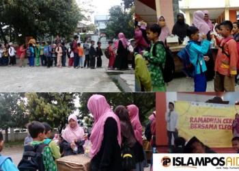 Bersama LDK UPI Purwakarta, IslamposAid Berbagi Ta'jil di Masjid Al-Furqan 1