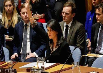 Duta besar Amerika Serikat (AS) untuk Perserikatan Bangsa Bangsa (PBB), Nikki Haley memveto Resolusi Dewan Keamanan PBB (PBB)   Foto: Reteurs