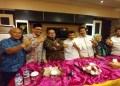 Raja Dangdut Rhoma Irama mendeklarasikan dukungannya kepada pasangan Sudirman Said dan Ida Fauziyah dalam Pilgub Jateng 2018. Deklarasi dilakukan di Jakarta, Selasa (27/03/2018). Foto: Tommy/Islampos.