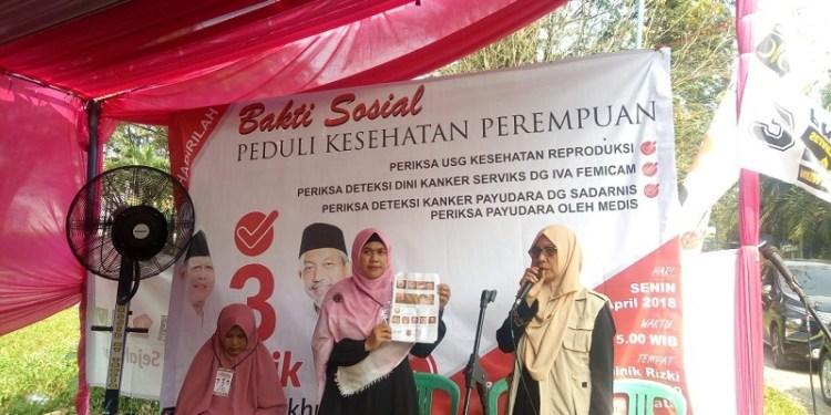 Kegiatan baksos selain sosialisasi juga untuk pemeriksaan kesehatan perempuan sejak dini. Foto: Rhio
