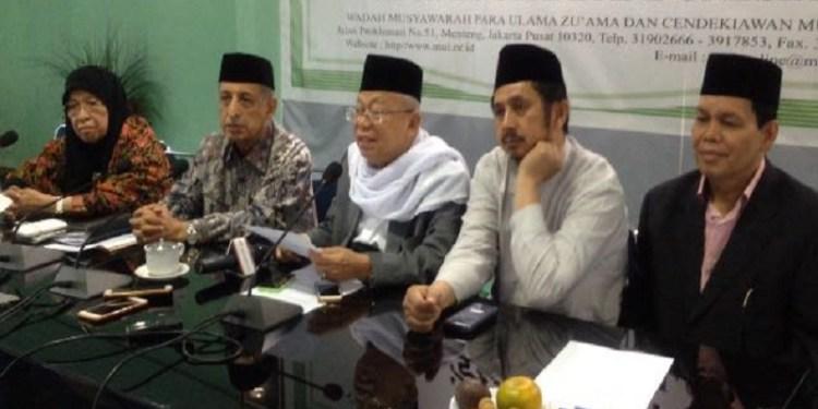 Ketua Umum Majelis Ulama Indonesia (MUI) KH Ma'ruf Amin. Foto: Rhio/Islampos
