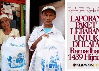6 Dhuafa Dapatkan Paket Lebaran 1439 H dari IslamposAid 3