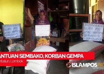 IslamposAid Salurkan Bantuan Berupa Paket Sembako untuk Korban Gempa Lombok 3