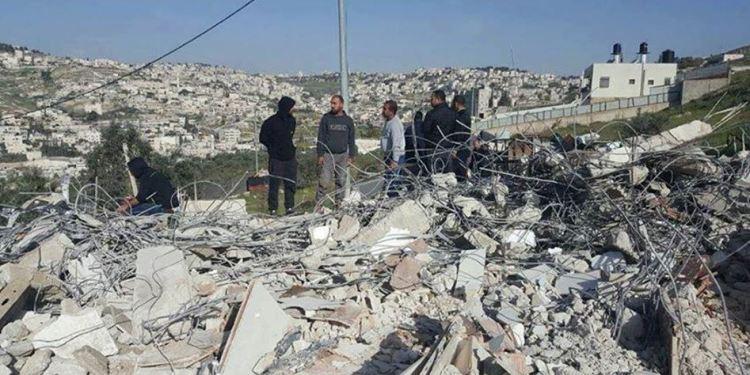 Rumah palestina dibongkar